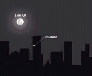 exam, moon, and student image