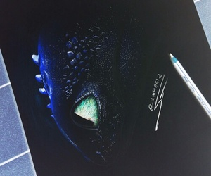 toothless, art, and dragon image