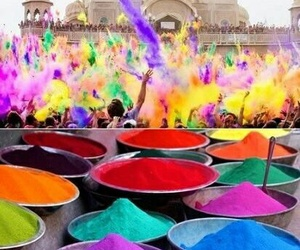 india, festival, and colors image