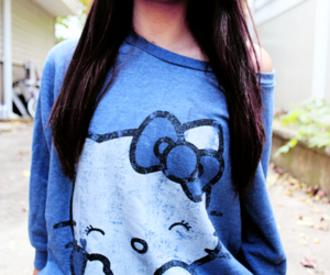 hello kitty and blue image