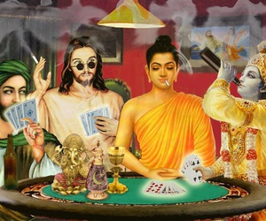 god, jesus, and Buddha image