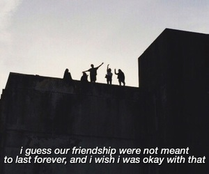 friendship, sad, and grunge image