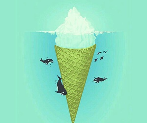 wallpaper, ice cream, and whale image