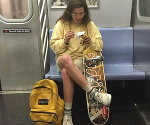 girl, grunge, and yellow image