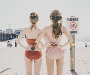 beach, fashion, and friend image