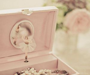 pink, ballerina, and box image