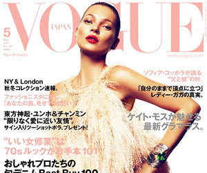 model, kate moss, and vogue image