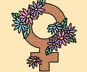 feminism, feminist, and flowers image