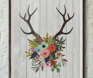 etsy, deer antlers, and oh deer image