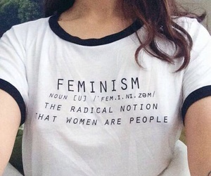 feminism, girl, and shirt image