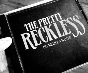 the pretty reckless, black and white, and rock image