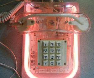 pink, phone, and grunge image