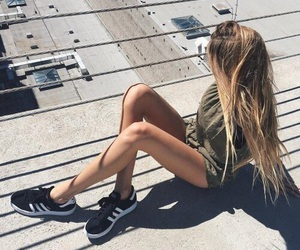 girl, hair, and adidas image