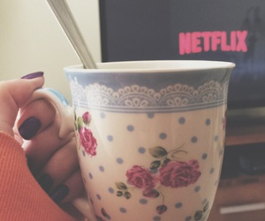 coffe, cold, and netflix image