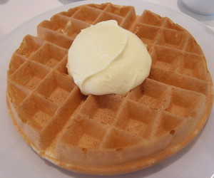 dessert, food, and waffles image