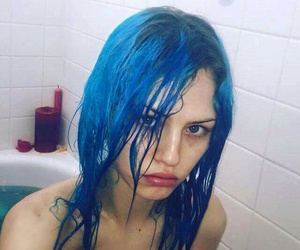 beauty, blue hair, and color image