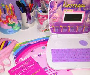 girly, notebook, and pink image