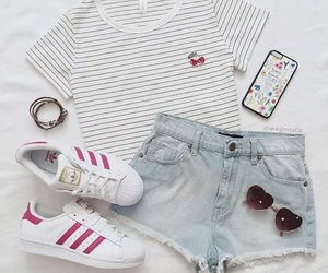 outfit, style, and adidas image