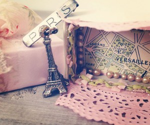 eiffel tower, french, and girly image