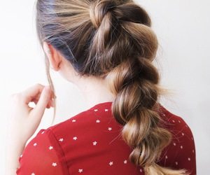 braid, brunette, and curly hair image