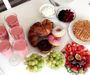 smoothie, food inspo, and waffles image