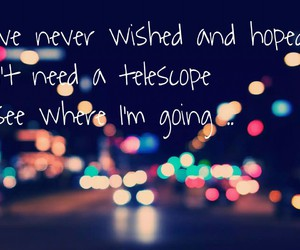 city lights, myself, and quotes image