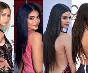 hair, selena gomez, and long hair image