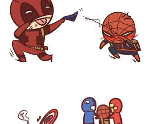 captain america, deadpool, and iron man image