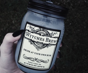 witch, drink, and black image