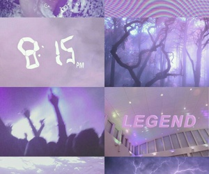 aesthetic, Collage, and violet image
