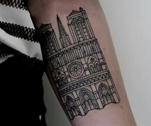 arm, building, and tattoo image
