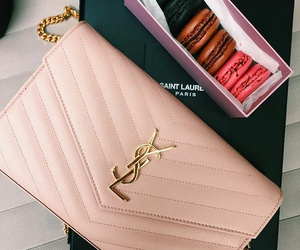 bag, luxury, and macaroons image