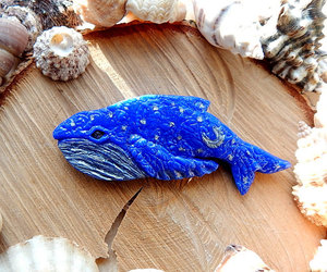 blue whale, animal jewelry, and whale jewelry image