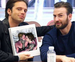 captain america, sebastian stan, and winter soldier image