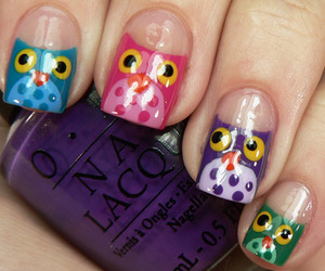 nails, owl, and cool image