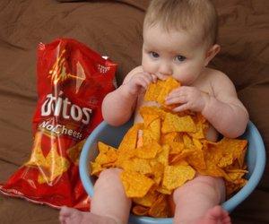 baby, doritos, and cute image