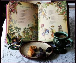 fairy, book, and tea image