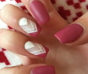 white, claret, and gel nails image