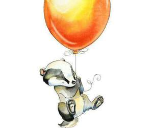 badger, balloon, and harry potter image