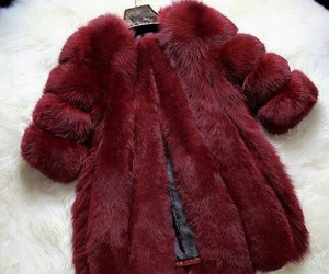 fashion, red, and fur image