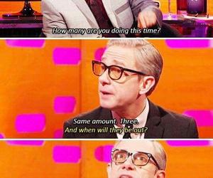 funny, Martin Freeman, and sherlock image