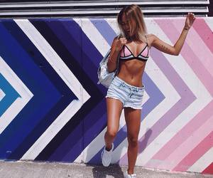 girl, fashion, and fit image