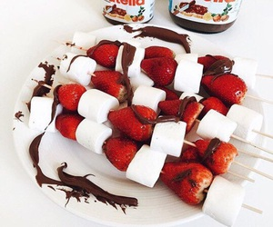 chocolate, strawberry, and marshmallows image