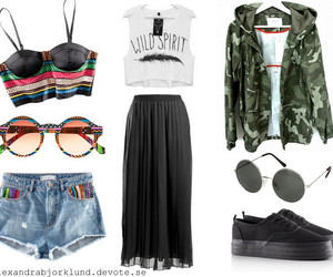 clothes, military, and Collage image