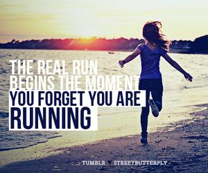 run, beach, and fitness image
