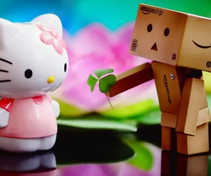 love and hello kitty image