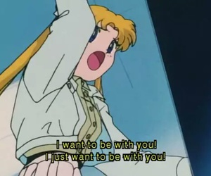 sailor moon and quote image
