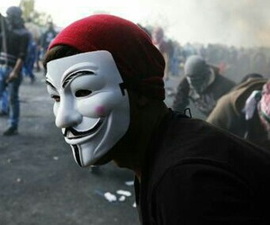 anonymous, freedom, and peace image