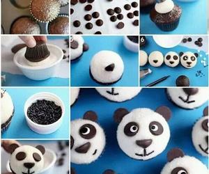 cupcake, panda, and food image