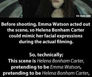 harry potter, emma watson, and helena bonham carter image